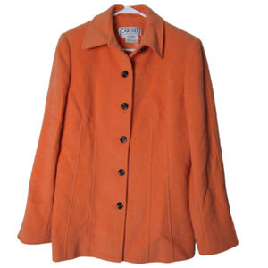 Carlisle coral wool angora silk blend jacket